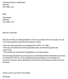 proof of employment letter sample