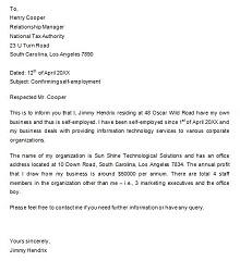 letter for employment verification