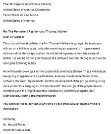 work confirmation letter